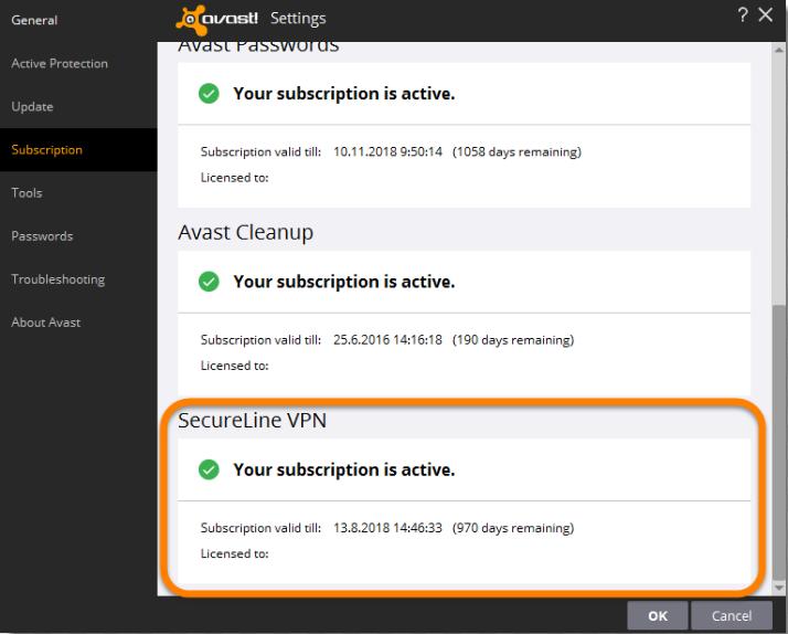 avis VPN Avast