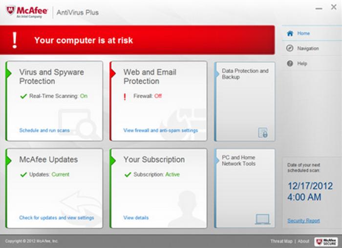 Test complet de l'antivirus McAfee