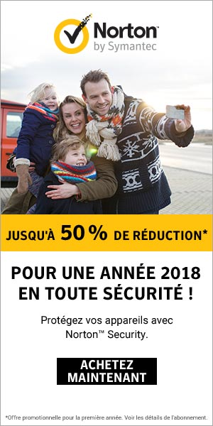 50% de réduction sur Norton Antivirus