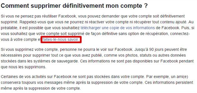 Etapes pour désactiver son compte Facebook