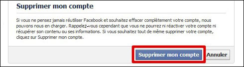 Supprimer son compte sur Facebook