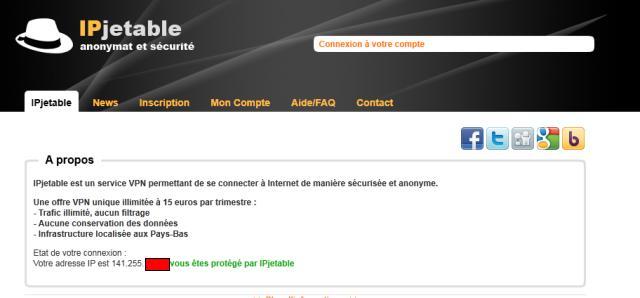 Quel est le niveau de sécurité offert par IP Jetable ?