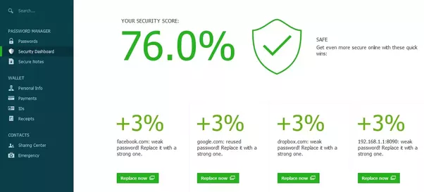 dashlane protection password