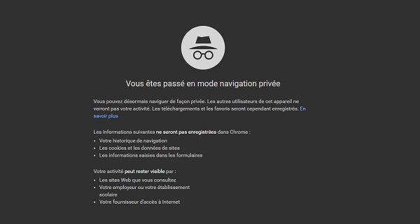 navigation privée internet