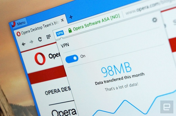 opera vpn free android