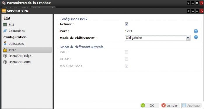 Configurer un VPN sur la Freebox Revolution
