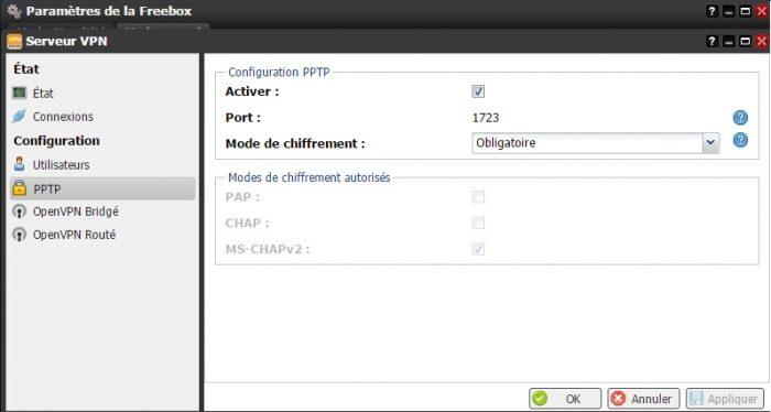 Configurer un VPN sur la Freebox Revolution