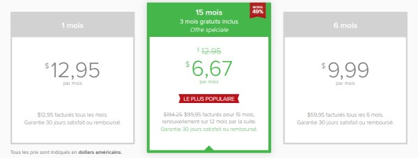 Avis ExpressVPN tarifs des abonnements