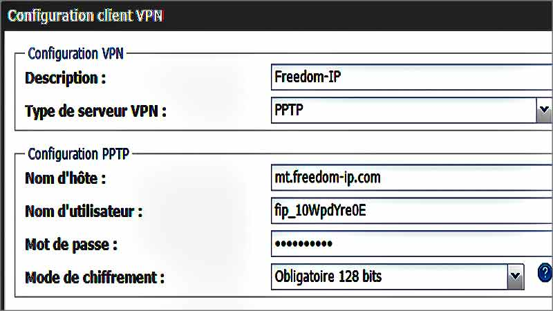 Configurer son VPN sur Freebox