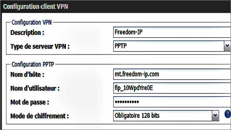 Configurer son VPN sur Freebox